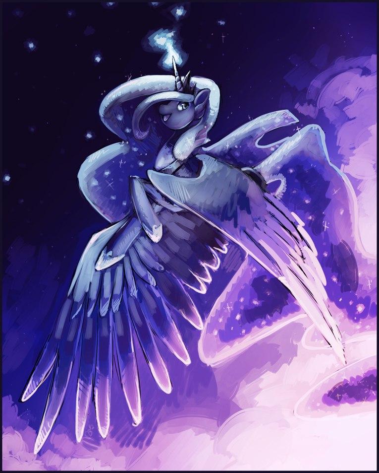 Пони Принцесса Луна Запускает Тыкву