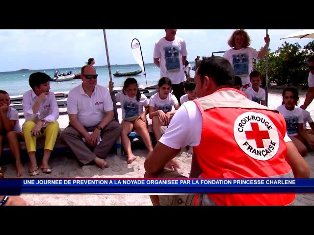 S.A.S. la Princesse Charlène contre la noyade en Corse