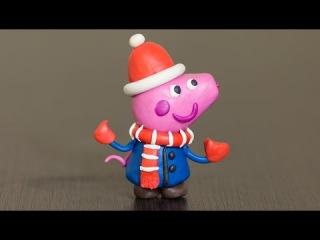 Лепка из пластилина. Свинка Пеппа Новый Год - Make Christmas Peppa Pig.