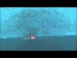 Ракетный удар гвардейского ракетного крейсера «Варяг» и поражение судна-мишени класса «крейсер»