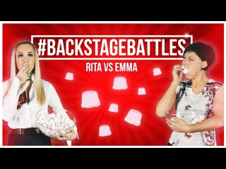 EXCLUSIVE: Emma Willis Vs Rita Ora - #BackstageBattles -  The Voice: 2015 - BBC One