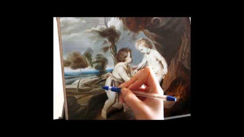Уроки живописи маслом. Часть 4. Копия Рубенса. Фламандская техника живописи