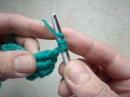 Crocheted Bullion Stitch Витой (почтовый) столбик