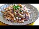 Салат из фасоли с колбасой простой и сытный