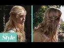 Aurora's Tie Back Twist with Flowers Tutorial
