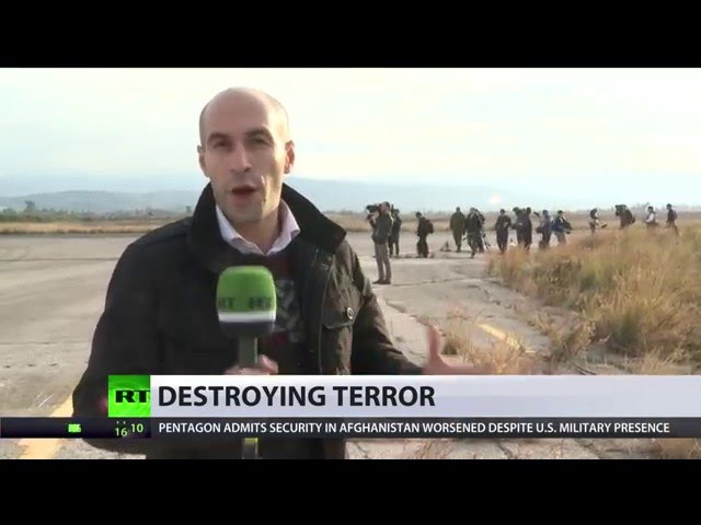 Russian military welcome 'hostile' journos to airbase in Syria