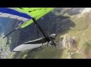 Col Rodella, Dolomites quite turbulent Hang Gliding Sept. 2014