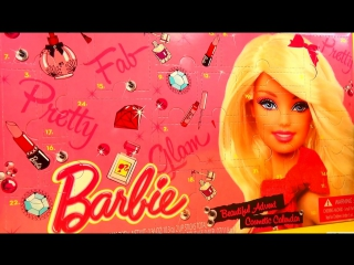 Детская косметика сюрприз календарь Барби Barbie surprise box