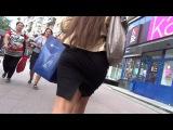 SEXY GIRL !!! BIG ASS !!! Сексуальная девушка в мини-юбке !!! Очень большая попа !!! FULL HD 1080
