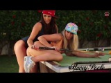 Stacey Poole playing Strip Pool With Melissa Debling Part 1