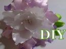 🌺 Цветок канзаши flower kanzashi - лилия на резинке