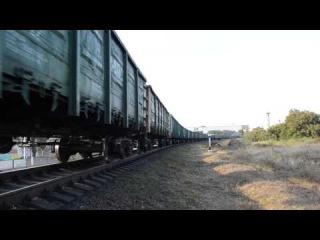 2Тэ116 1347 с грузовым со станции Бердянск.и привет лок.Бригада