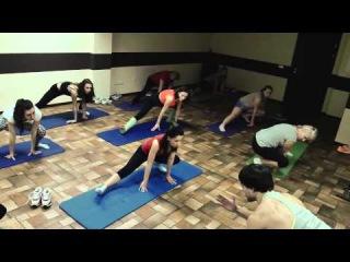 групповая тренировка  фитнес   клуб Джинджер  Мигск