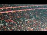 Galatasaray-Antalya 2-0'lık maç, Sırtı dönük tezahurat,muhteşem Galatasaray Seyircisi