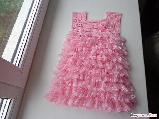 Платье для девочки. Автор: Пломбир… (8 фото) - картинка