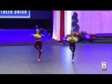 [ICU Worlds 2015] freestyle pom doubles Team Ukraine