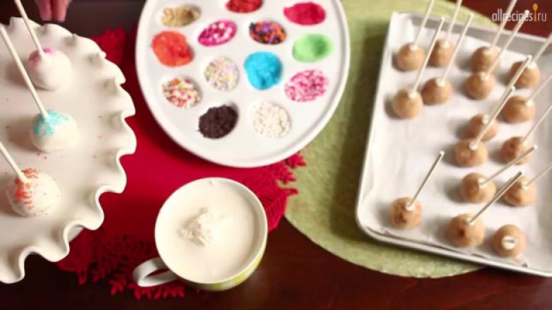Кейк попсы без выпечки рецепт с пошагово в домашних условиях