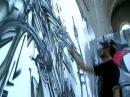 REZINE / SHAM / KREV street art in french church graffiti 2008