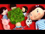 Here We Go Round The Mulberry Bush Nursery Rhymes by LittleBabyBum!
