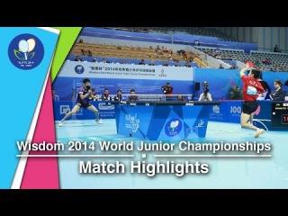 2014 Junior Worlds Highlights: Yuto Muramatsu Vs Yu Ziyang (Team FINAL)