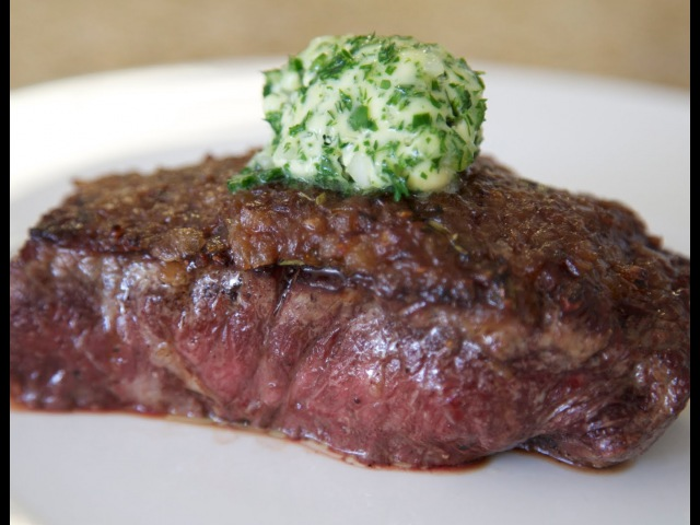 Steak with Caramelized Onions Herb Butter | Byron Talbott