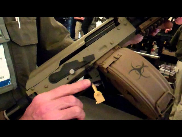 SHOT Show 2012 DoubleStar Corp Zombie-X AK with Chain Saw