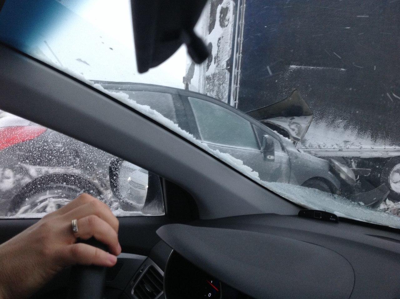 ДТП авария пробка в районе 600 км трассы М4 Дон Воронежская область 30.12.2014