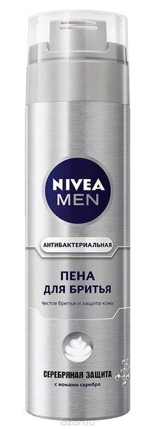"""Men пена для бритья """"серебряная защита"""", 200 мл, Nivea"""