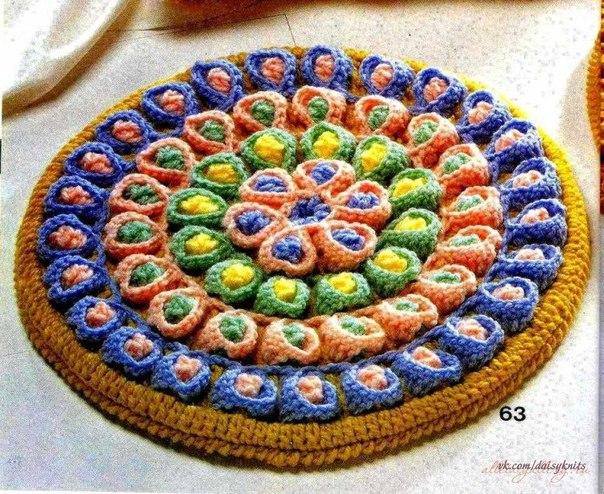 Японские коврики крючком