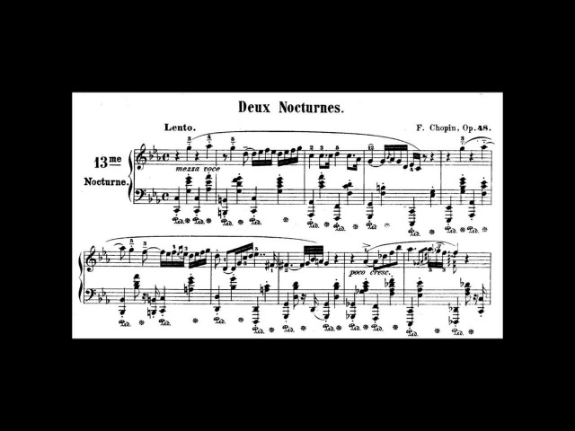 Chopin Nocturne Op.48 No.1 in C Minor (Ashkenazy)
