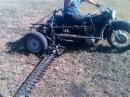 Самодельная косилка,мотоцикл Днепр косит быстрее чем трактор,читайте внизу.