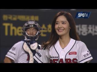 [PO 3차전] '소녀시대' 윤아, 모두를 놀라게 하는 완벽 시구 (10.21)