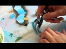 Harder Steenbeck Airbrush Dolphin Stencil Step by Step