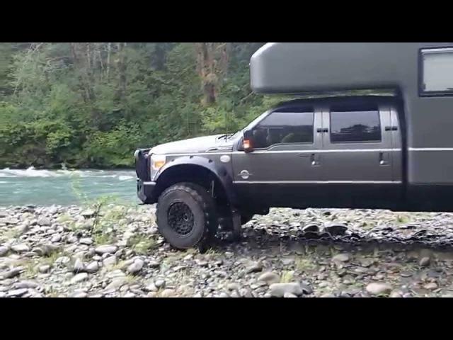 Earth roamer camping along the Hoh river