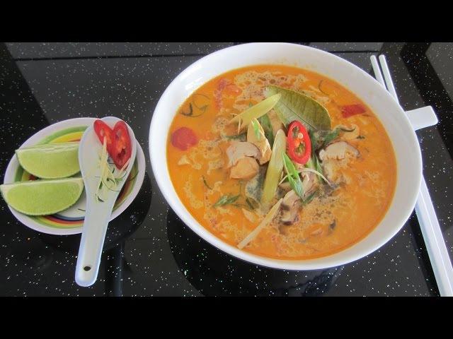 Как готовить тайский суп Том Ям clip cách nấu súp Tom Yum Thái tom yam recipe video Lẩu thái