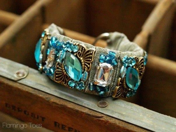 Сделать браслет с камнем своими руками