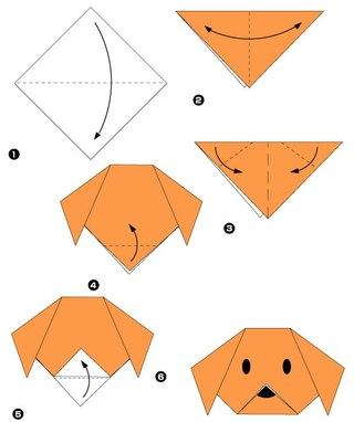 Простая схема оригами, которую