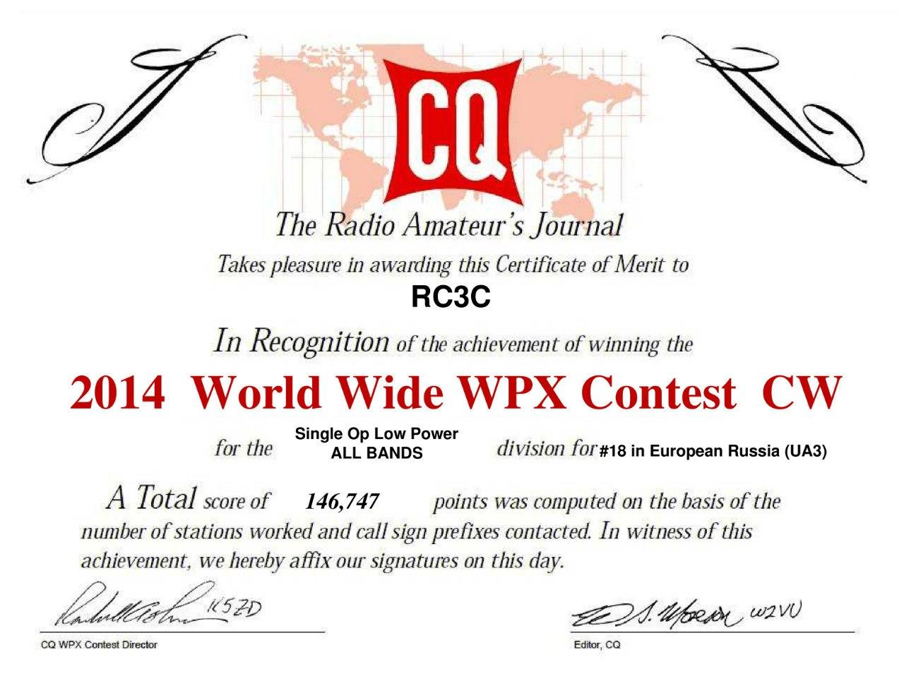 RC3C_CQ-WPX-CW-2014