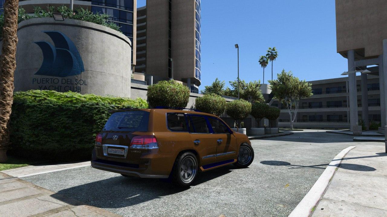 2014 Lexus LX 570 v3 для GTA V - Скриншот 2