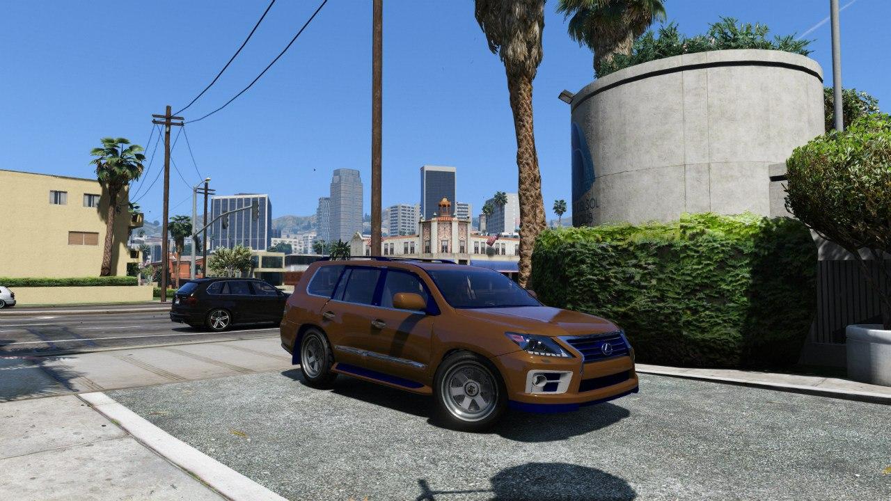 2014 Lexus LX 570 v3 для GTA V - Скриншот 1