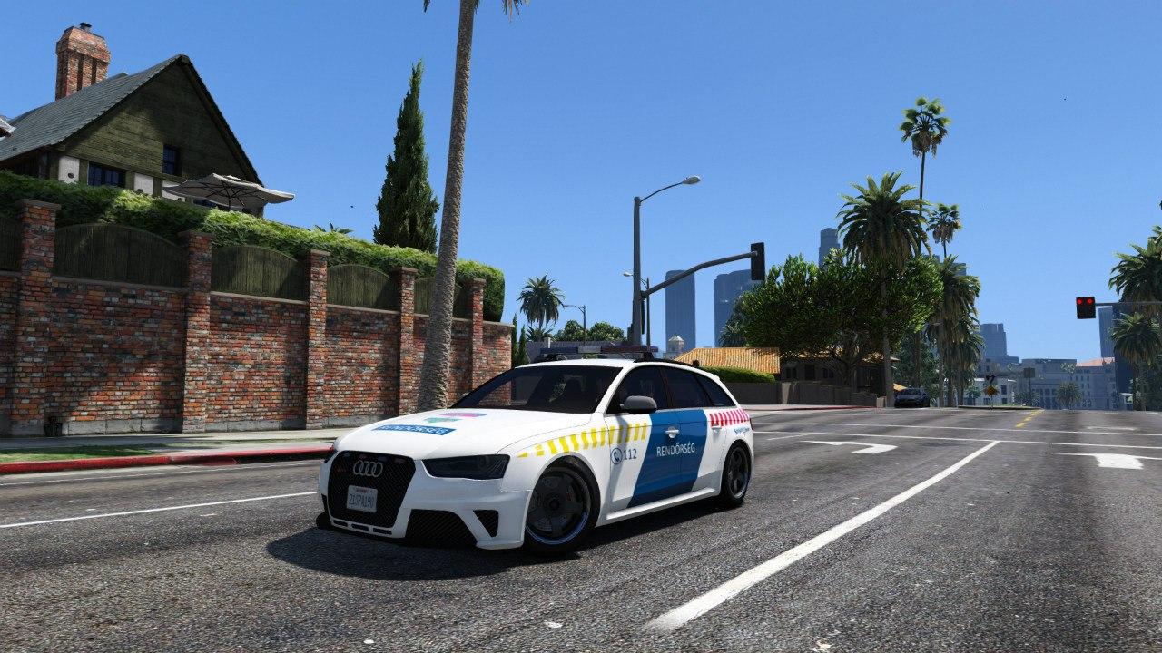 Hungarian Police Audi RS4 Avant для GTA V - Скриншот 3