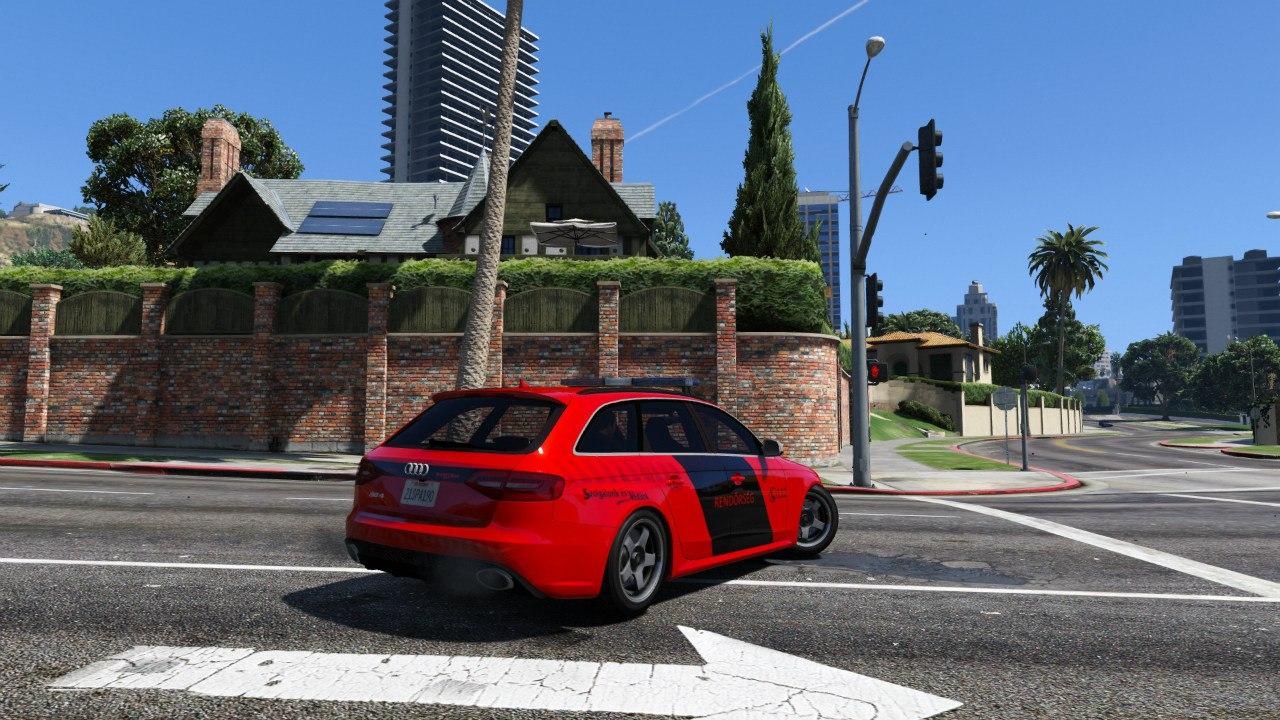 Hungarian Police Audi RS4 Avant для GTA V - Скриншот 2