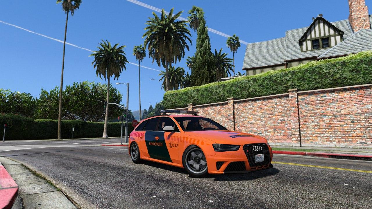 Hungarian Police Audi RS4 Avant для GTA V - Скриншот 1