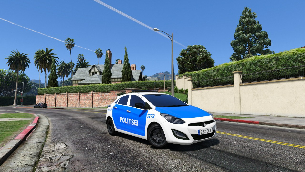 Estonian Police Huyndai i30 для GTA V - Скриншот 1