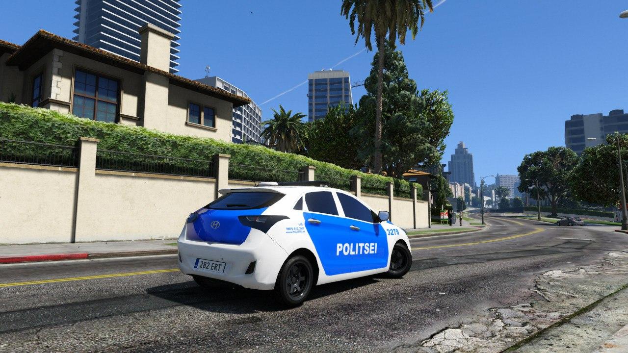 Estonian Police Huyndai i30 для GTA V - Скриншот 2
