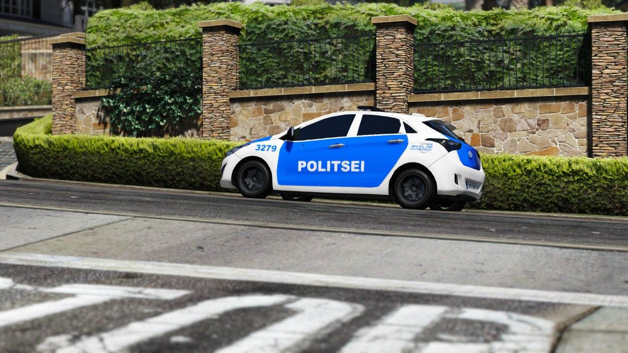 Estonian Police Huyndai i30 для GTA V - Скриншот 3