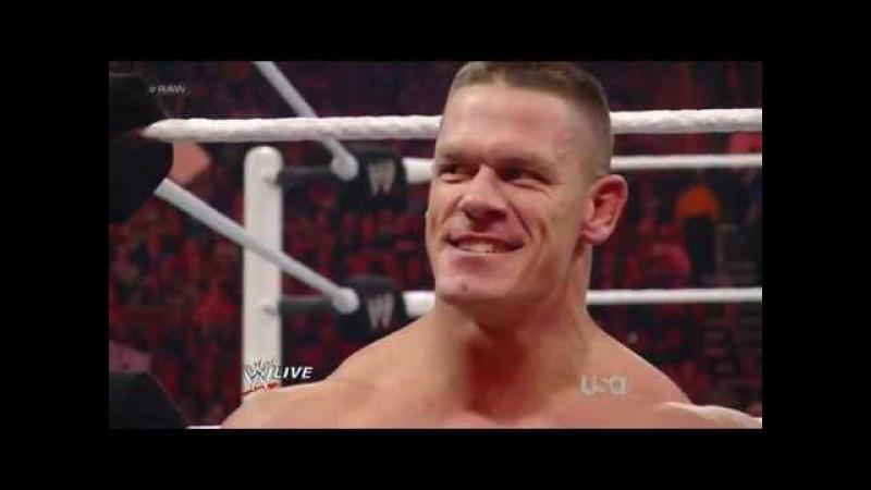 WWE Сина побил КЕЙНА 30 01 2012русс озв от 545TV