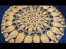 Салфетка крючком по схеме. Вязание салфетки. Ажурная салфетка. Ч. 4 (Crochet napkin. P. 4)