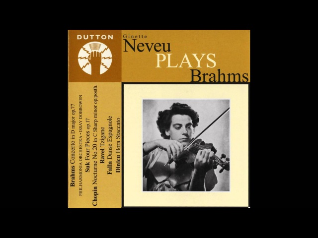 Ginette Neveu Brahms violin concerto more.wmv