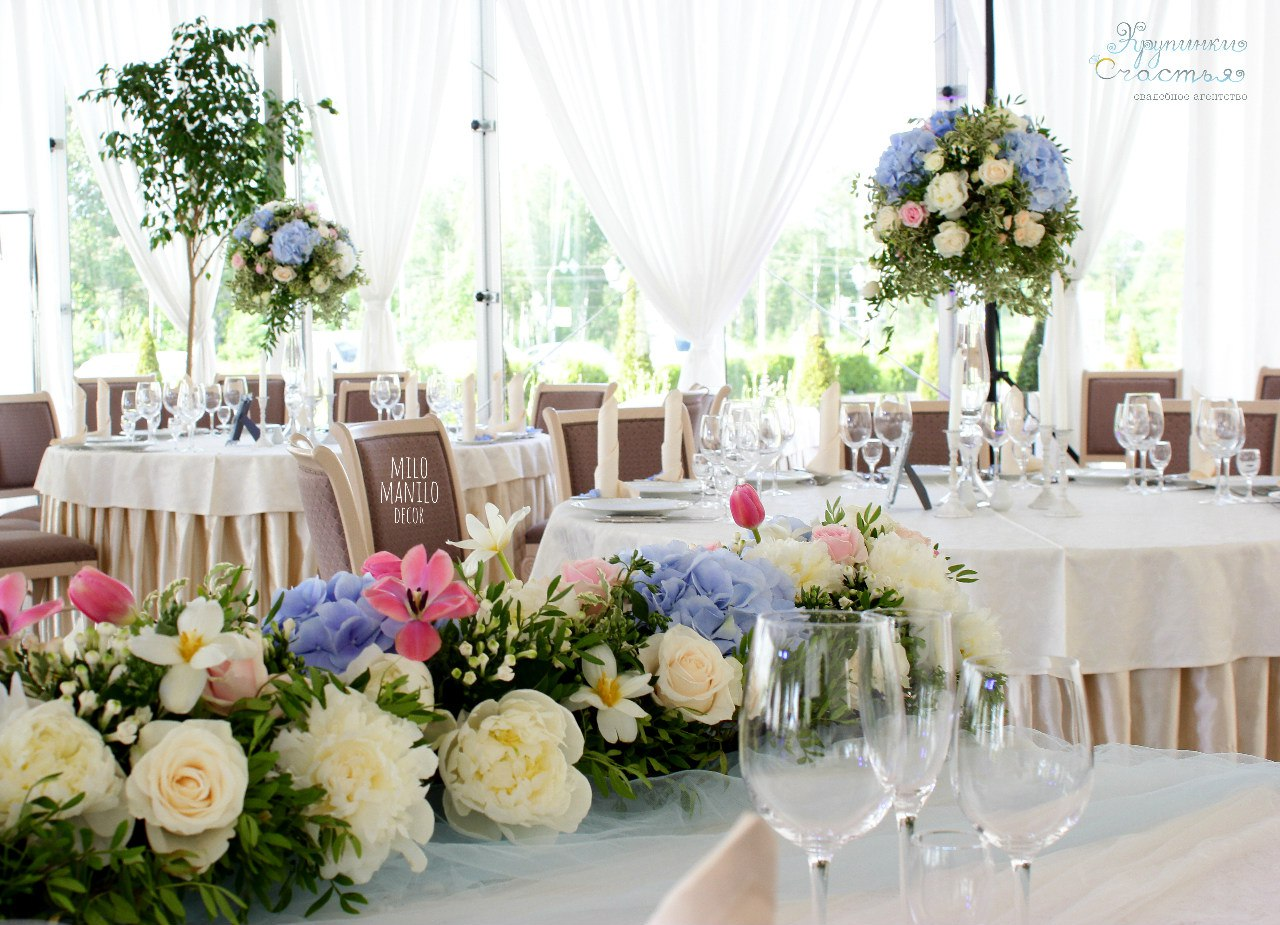 декор свадебного стола для гостей